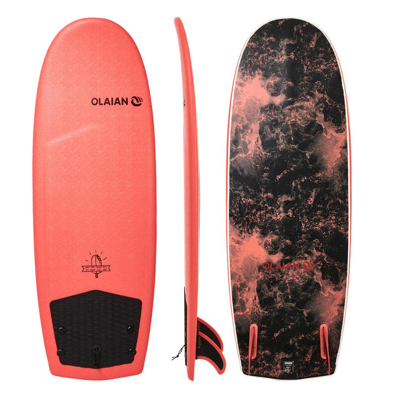 SURFOVACÍ PRKNO ZKUŠENÍ Surfing a bodyboard - SURF 900 SOFT 5'4 OLAIAN - Surfy, bodyboardy a skimboardy