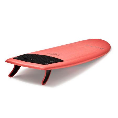 Foam Surfboard 900 5'4  supplied with 2 fins.