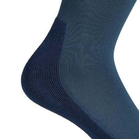Adult Horse Riding Socks SKS100 - Petrol/Navy and White Stripes