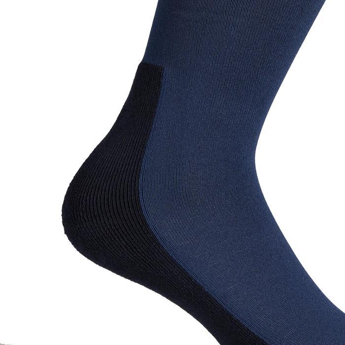 Chaussettes équitation adulte 100 bleu turquin/rayures cerise