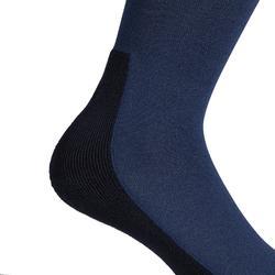 Chaussettes équitation adulte SKS100 bleu turquin/rayures cerise