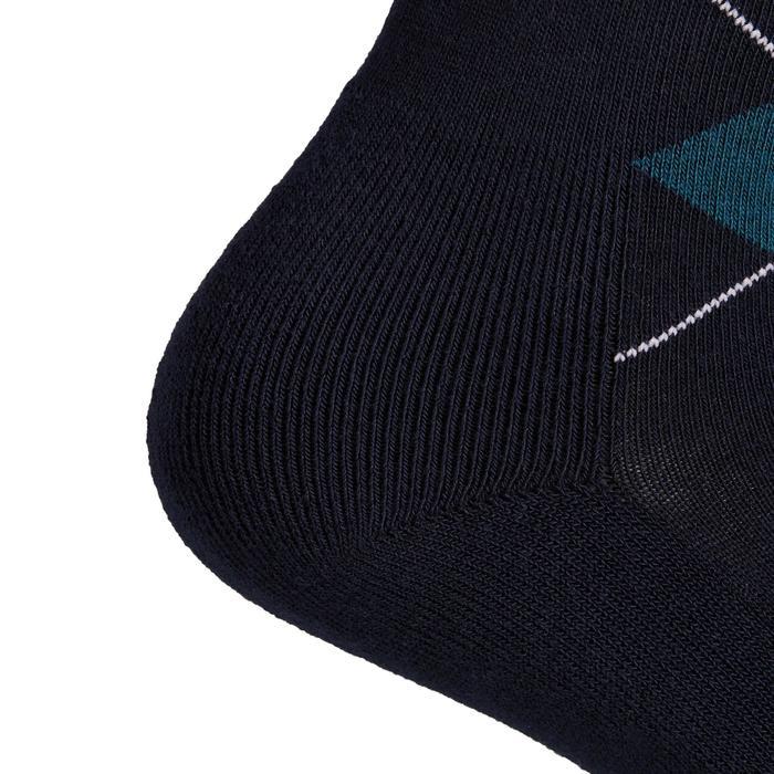 Chaussettes équitation adulte LOSANGES bleu pétrole et bleu marine/vert canard