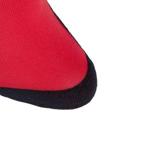 Chaussettes équitation enfant SKS100 rose/rayures marine