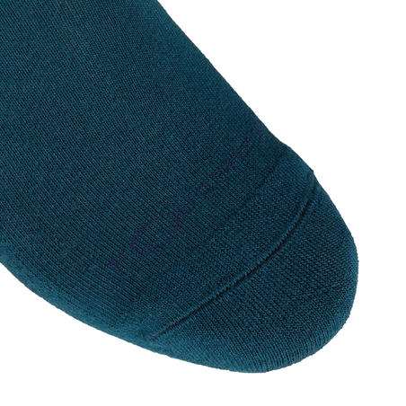 Adult Horse Riding Socks Lozenges - Petrol Blue and Navy Blue/Teal