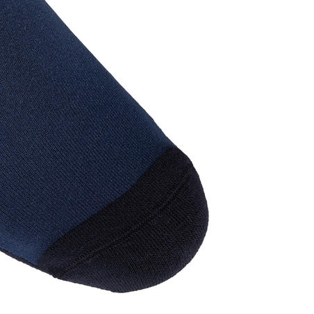 Calcetines Equitación 100 Adulto Azul Turquí/Rayas Rosa Pálido