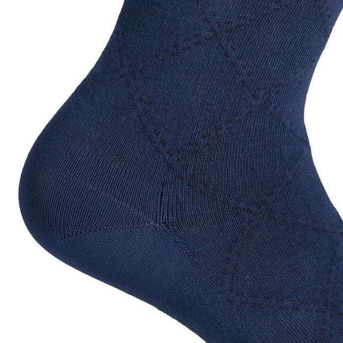 Chaussettes équitation femme 500 LIGHT bleu turquin et framboise
