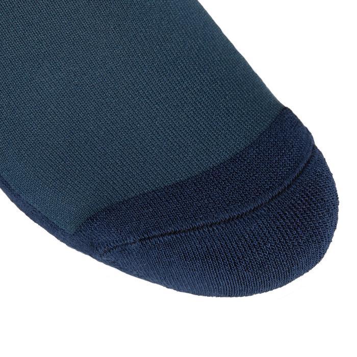 Chaussettes équitation adulte SKS100 pétrole/rayures marine et blanches