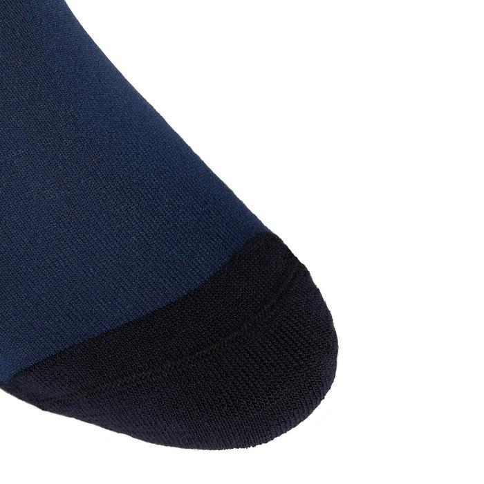 Meias de Equitação Adulto SKS 100 Azul/Riscas Cereja