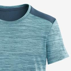 Boys' Breathable Synthetic Short-Sleeved Gym T-Shirt S500 - Light Blue