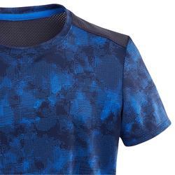 T-shirt manches courtes synthétique respirant, S500 garçon GYM ENFANT bleu AOP