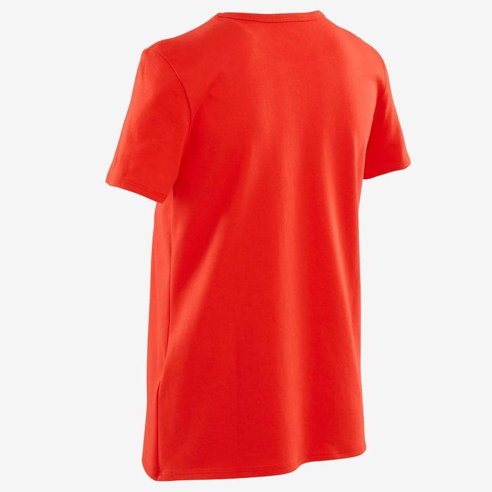 100 Boys' Short-Sleeved Gym T-Shirt - Red Print