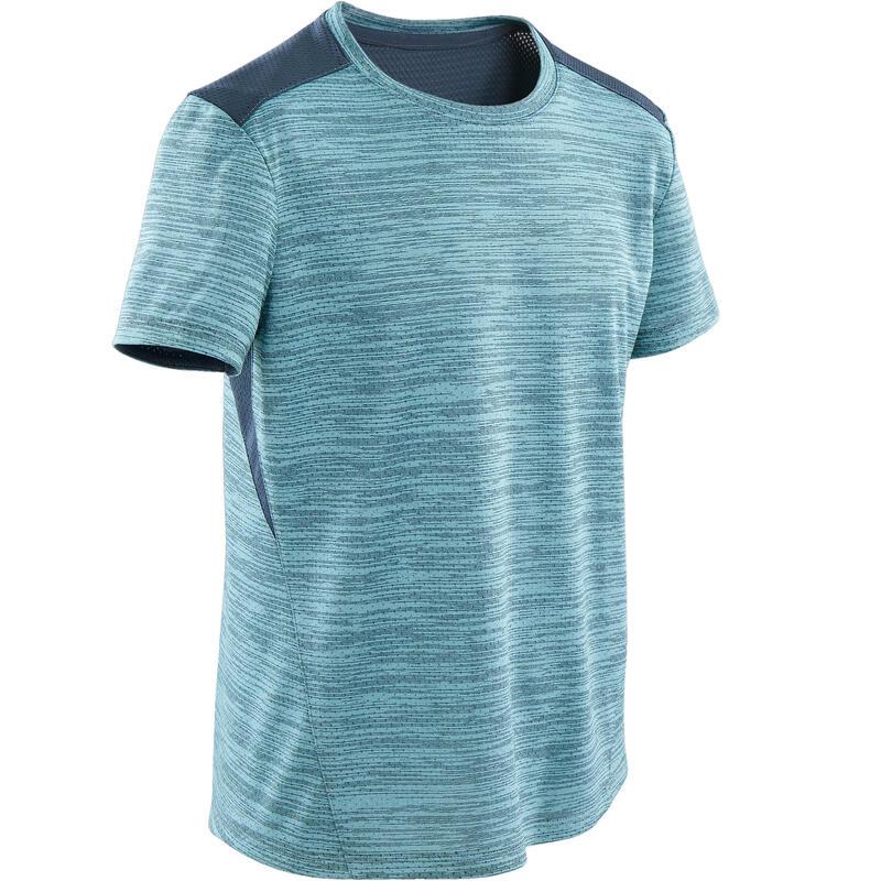 T-shirt manches courtes synthétique respirant, S500 garçon GYM ENFANT bleu clair