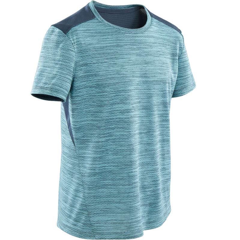 BOY EDUCATIONAL GYM APPAREL Fitness and Gym - Boys' Gym T-Shirt S500 - Blue DOMYOS - Gym Activewear