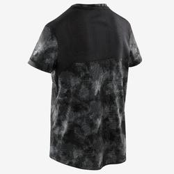 T-shirt manches courtes synthétique respirant, S500 garçon GYM ENFANT noir AOP