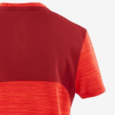 חולצת טי S500 בנים קצרה וסינתטית להתעמלות - אדום