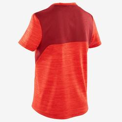 男童透氣合成材質短袖健身T恤S500 - 紅色
