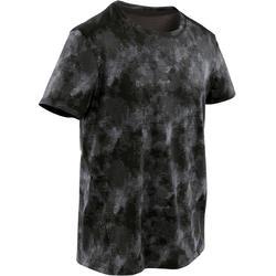 T-shirt respirant noir et gris imprimé ENFANT