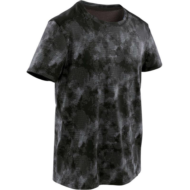 ABBIGLIAMENTO LEGGERO BAMBINO Ginnastica, Pilates - T-shirt bambino gym S500 nera DOMYOS - Ginnastica, Pilates