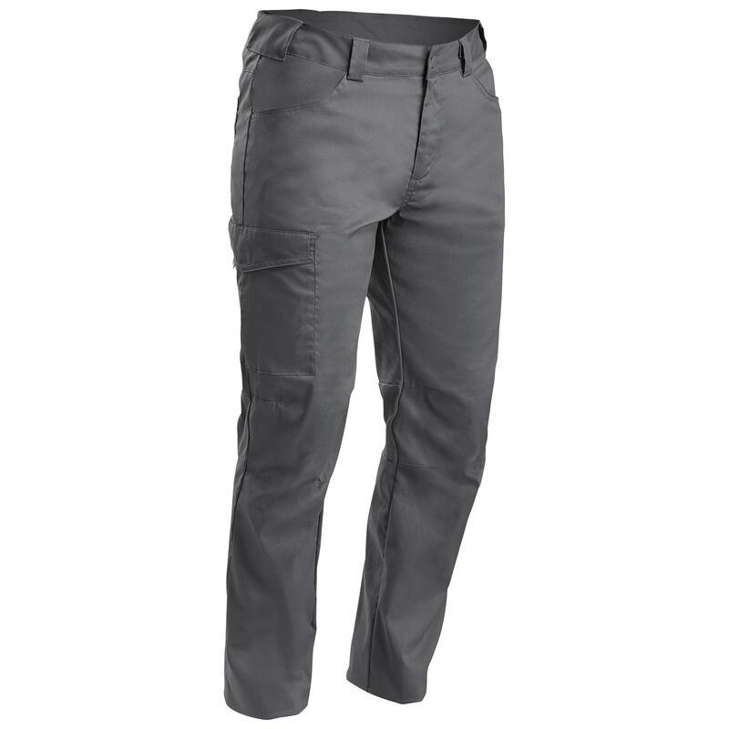 Hiking/ Camping/ Trekking Trousers Men Nh100 (Stretchable) Dark Grey - Quechua