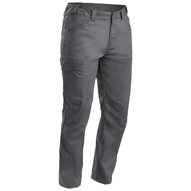 MEN NATURE HIKING PANTS Hiking - Trousers NH100 - Dark grey QUECHUA - Hiking Clothes