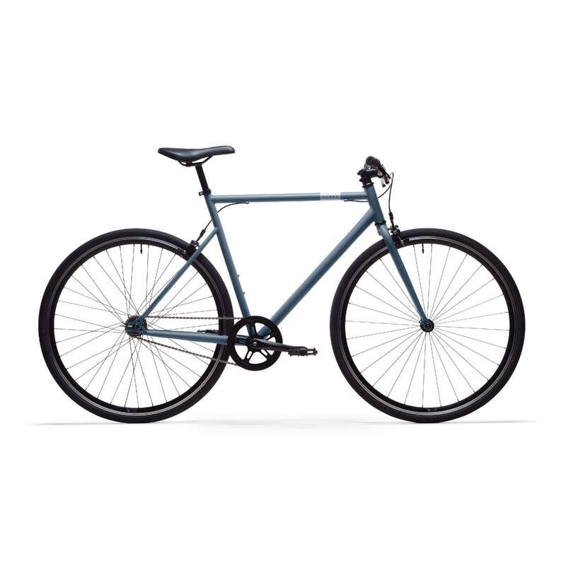BICI URBAN SPEED Ciclismo, Bici - BICI CITTÀ ELOPS 500 SINGLE SPEED AZZURRA  B'TWIN - BICI