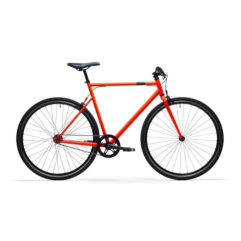 Bici città single speed ELOPS 500 arancione