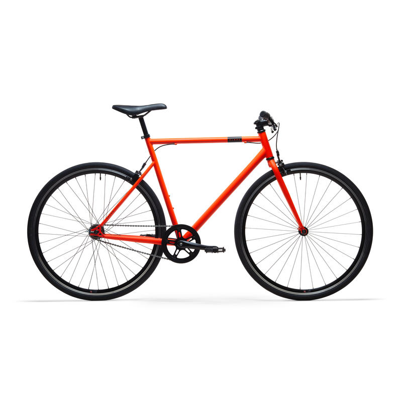 Stadsfiets Single Speed 500 oranje