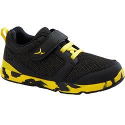 Zapatillas Bebé flexible Domyos I Move 550 negro amarillo tallas 25 al 30