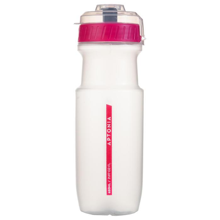 Sportbidon doorschijnend roze 650 ml