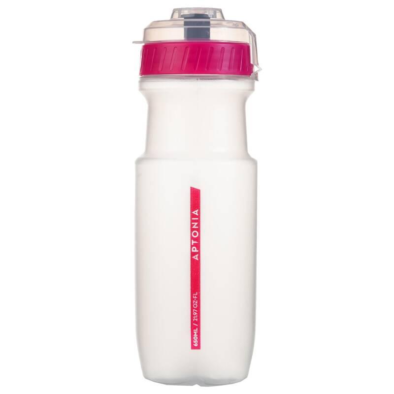 DOPLNĚNÍ TEKUTIN PŘED SPORTEM Triatlon - Sportovní láhev 650 ml růžová  APTONIA - Výživa a hydratace