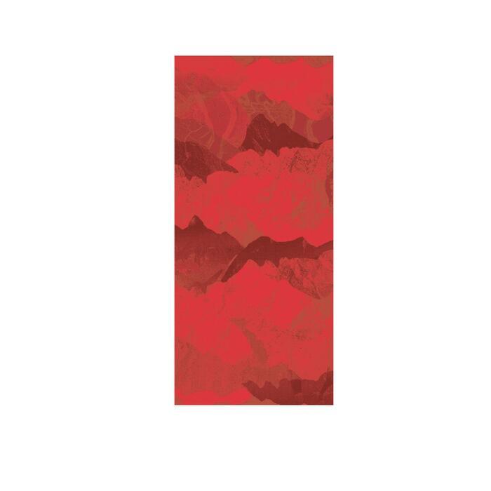 自行車脖圍RoadR 100-酒紅色/紅色