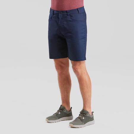 Celana Pendek Jalan Pedesaan Pria NH100 Fresh - Biru