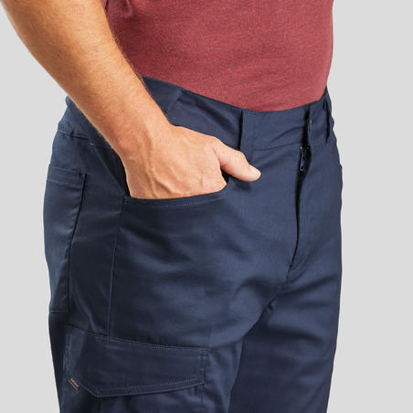 Hiking/ Camping/ Trekking Trousers Men Nh100 (Stretchable) Blue - Quechua