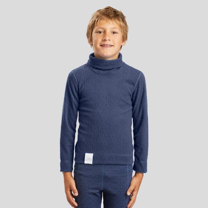 Thermoshirt voor skiën voor kinderen 2WARM marineblauw