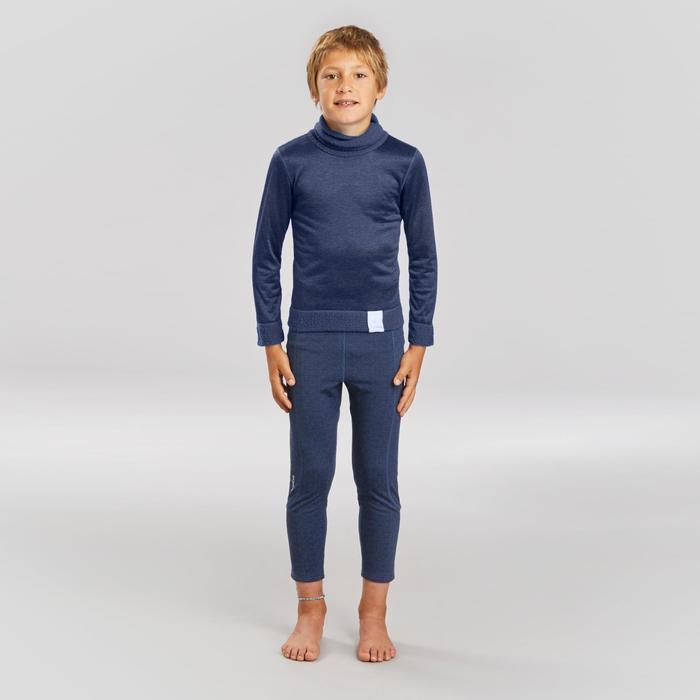 Thermobroek voor skiën kinderen 500 marineblauw