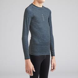 Sous-vêtement enfant Keepdry 100 gris chiné