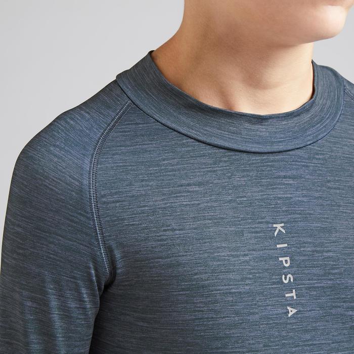 兒童款保暖底層衣Keepdry 100-刷色灰