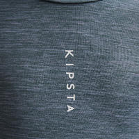 Kids' Long-Sleeved Football Base Layer Top Keepdry 100 - Mottled Grey