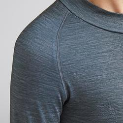 Kids' Warm Base Layer Keepdry 100 - Mottled Grey