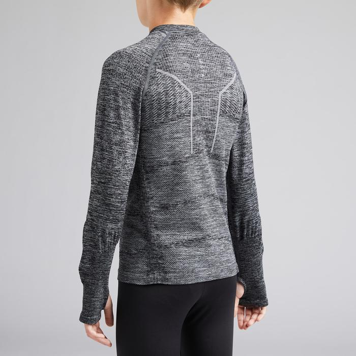 Thermoshirt kind Keepdry 500 gemêleerd grijs