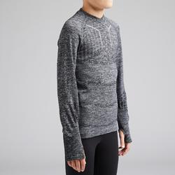兒童款底層衣Keepdry 500-麻灰色