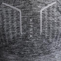 Voetbalondershirt voor kinderen Keepdry 500 gemêleerd grijs