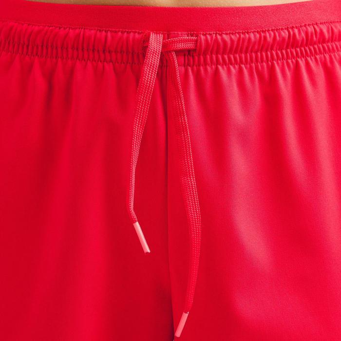女童款足球短褲F500-紅色