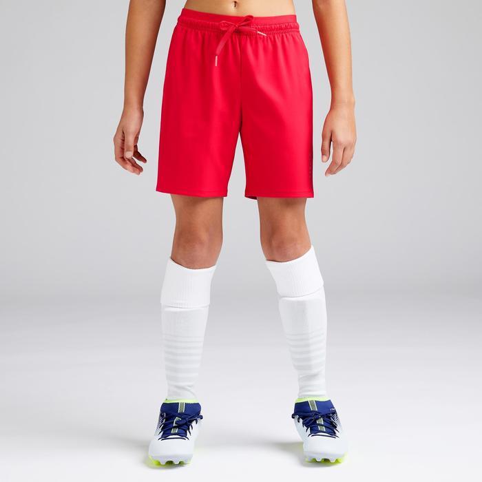 Voetbalshort voor meisjes F500 rood