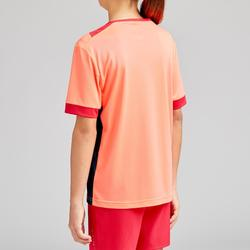 F500 Girls' Football Shirt - Coral/Navy Blue