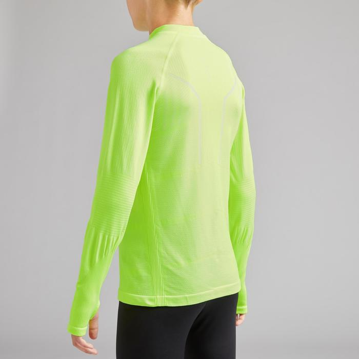 Thermoshirt kind Keepdry 500 lange mouw fluogeel