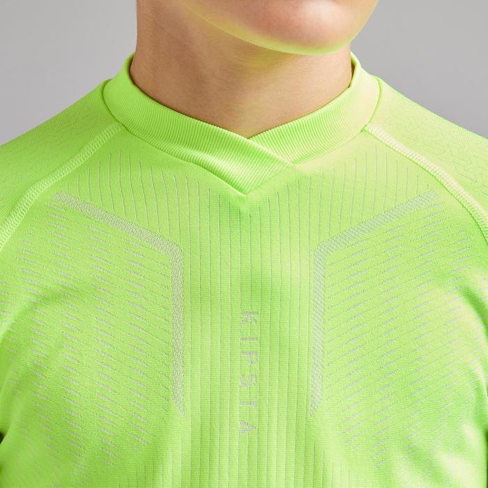 Voetbalondershirt voor kinderen Keepdry 500 fluogeel