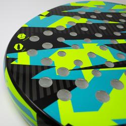 Pala Padel Kuikma PR560 Niños Negro Azul Amarillo
