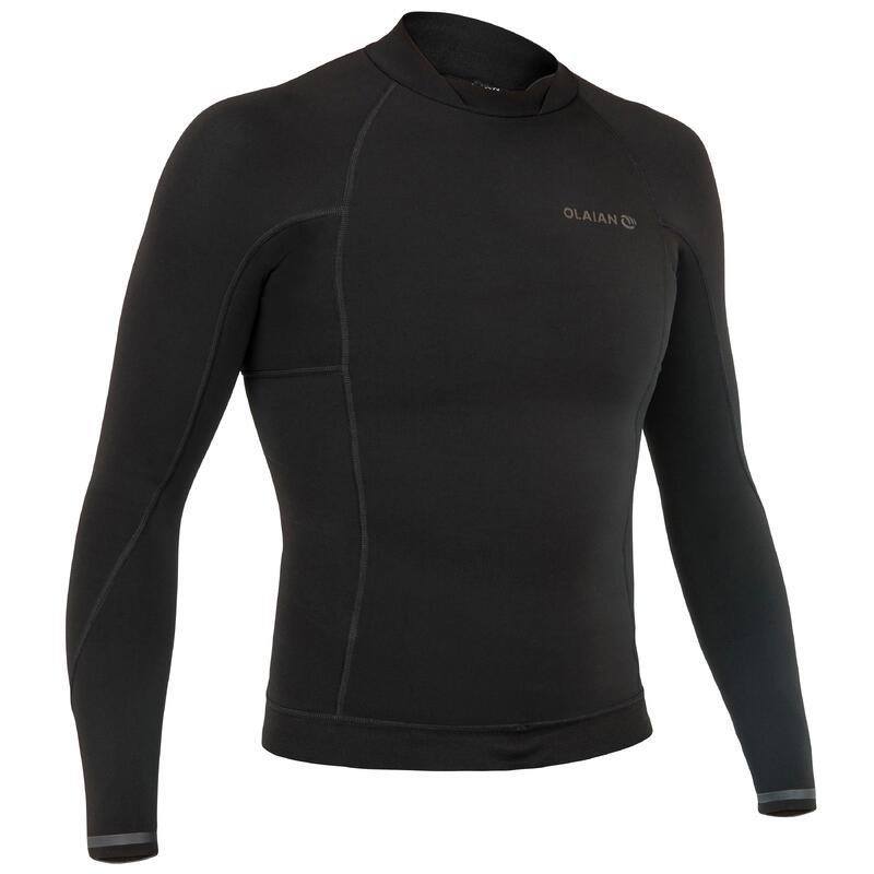 Bluză neopren surf 1,5 mm 900 Negru Bărbaţi