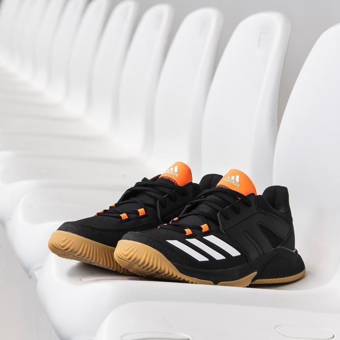 Zapatillas balonmano adulto Essence negro naranja